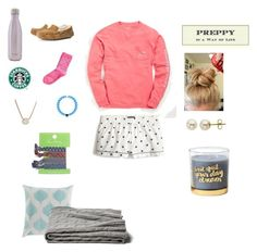 """""""Sleep over"""" by avaodom ❤ liked on Polyvore featuring Vineyard Vines, J.Crew, UGG Australia, Kendra Scott, Vera Bradley, Lord & Taylor, a&R and S'well"""