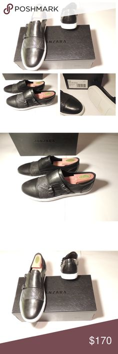 NWT Zanzara Sneakers - Monk Strap - Black Brand new in box.  Black leather uppers, double Monk Strap with cap Toe.  These run true to size. * Missing shoe bags and does not include shoe trees* Zanzara Shoes Sneakers