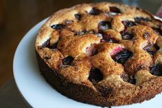 The Torte // Plum Torte (adapted from a recipe by Marian Burros from the NY Times)