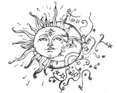 I've been searching for the perfect sun/moon drawing for a tattoo and I've finally found one! Thank youuuu