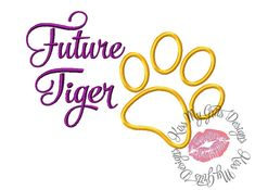 Future Tiger Machine Embroidery Applique by KissMyGritsDesigns, $4.00