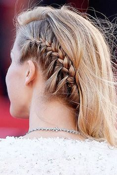 Summer Braid Hair: Petra Nemcova in single side braid w/ loose curly hairstyle at Cannes 2015.