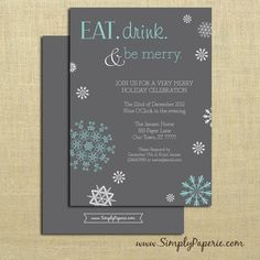 Eat Drink and Be Merry! Party Invitations