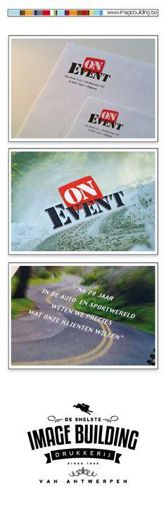 Huisstijl ontwerp en drukwerk voor eventbureau 'OnEvent'. Omslagen. Briefhoofd. Visitekaartjes. Presentatieboekje. Mapje. #imagebuildingnv #desnelstedrukkerijvanantwerpen #huisstijl #graphicdesign #grafisch #ontwerp #opmaak #drukwerk