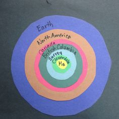 Me in the World - good Social Studies activity - this is the teacher sample - the kids work looks great as a class set