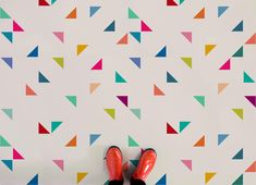 Triangle Pattern Vinyl Flooring, leading Vinyl Flooring designed and manufactured by Atrafloor. Bring any design to life as Flooring. Chevron Patterns, Print Patterns, Geometric Designs, Geometric Shapes, Patterned Vinyl, Vinyl Sheets, Triangle Pattern, Floor Design, Retro Design