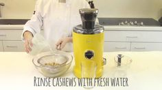 Novis Vita Juicer: How to make cashew milk