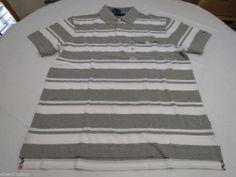 Men's Tommy Hilfiger Polo shirt stripe 7845158 Grey Heather 004 XL slim fit pckt #TommyHilfiger #polo