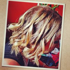 Curls for a hens night @jleahair