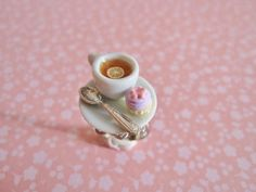 Tea n Cupcake Ring MADE TO ORDER by ilovelittlethings on Etsy