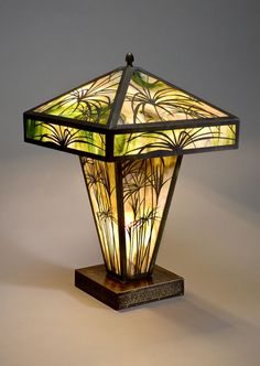 unique stained glass table lamp