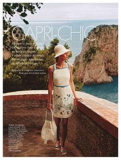 """""""Capri-Chic"""" Elle Portugal June 2014   Ann Sofie by Pasquale Abbatista"""