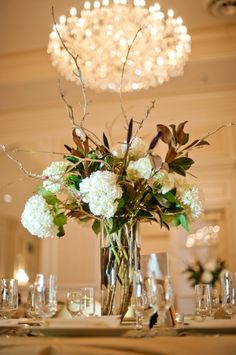 Magnolia-and-Hydrangea-Centerpiece - Elizabeth Anne Designs: The Wedding Blog