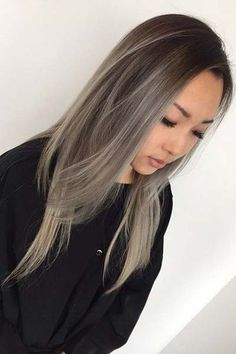 Asian hair blonde balayage, balayage hairstyle, hair color for asian, Grey Balayage, Balayage Asian Hair, Hair Color Balayage, Balayage Hairstyle, Asian Ombre Hair, Blonde Asian, Asian Hair 2018, Ombre Hair For Asians, Asian Hair Dyed