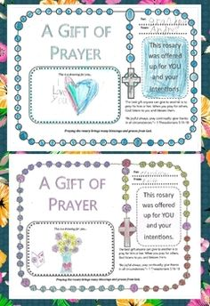 "It's beautiful to teach children or students to have an intercessor's heart. God is calling us to pray for many people. ""Be joyful always; pray continually; give thanks in all circumstances.""~ 1 Thessalonians 5:16-18 This rosary gift of prayer worksheets are to have your children or students pray and offer a rosary for others."