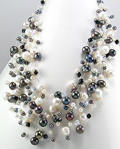 Freshwater Cultured Black Pearl Necklace