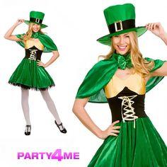 9b06bb9e2f14 Details about Ladies Lucky Leprechaun Sexy Irish St Patricks Day Fancy  Dress Costume Outfit