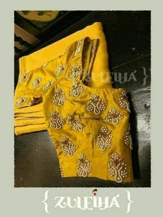 We have come up with 30 new Pattu saree blouse designs that will revamp your look. These Pattu saree blouse designs have a perfect fit and are Pattu Saree Blouse Designs, Fancy Blouse Designs, Bridal Blouse Designs, Blouse Neck Designs, Stylish Blouse Design, Designer Blouse Patterns, Designer Dresses, Couture, Pearl Embroidery