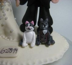 Cat wedding cake topper cat cake topper by CuteToppers on Etsy