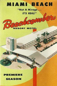 By request… Beachcomber Resort Motel brochure detail - Miami, Florida.