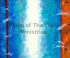 El Espiritu del Hombre By Ana Méndez Ferrell   En esta pintura abstracta podemos ver el espíritu del hombre representado por la franja blanca del centro. El espíritu emana su poder invadiendo el alma (sección azul), rompiendo las prisiones de cautividad (barra roja) y sanando el cuerpo (franja naranja al lado derecho).