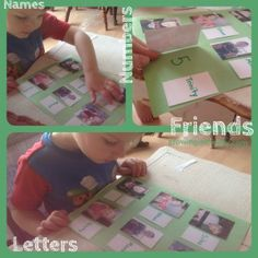 This is so creative. Using friends to teach numbers, letter and reading! Lot's of preschool homeschool ideas!