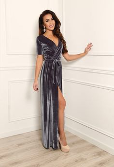 ❖ The dress is with Wrap neckline Short Sleeves and Slit. ❖ If you wish Round or V neck, without slit, with pockets, Long or 3/4 sleeves - write it in note. ❖ Velvet sash is included. ❖ Waist with elastic, stretch it according to your waist size. ❖ Ordering a dress, write a note with your height, bust, waist measurements. ❖ Material is quality, flexible and stretchy. DRESS SIZE: US 0 /UK 2/ Bust 31.4 ( 80 cm), Waist 23,6 (60 cm) (XXS) US 2 /UK 4/ Bust 33 (84 cm), Wais...
