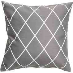 Jacquard-weave Cushion Cover $12.99 ($13) ❤ liked on Polyvore featuring home, home decor, throw pillows, cotton throw pillows, jacquard throw pillows, grey home decor, gray home decor and grey throw pillows