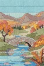 Mountain Autumn Long Stitch Kit from Derwentwater Designs