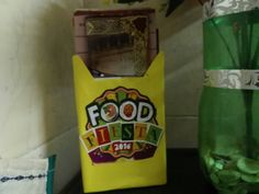 Diy pamphlet holder: Method: Cut out any cereal box and cover with colored paper  Find Any interesting stickers or cut outs related to food n store all your favorite restuarant  leaflets Now u know where to search for it when u want home delivery .