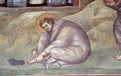 Medieval church or Privlepta, Ohrid, Macedonia Byzantine Icons, Byzantine Art, Orthodox Christianity, Medieval Times, Orthodox Icons, Illuminated Manuscript, Kirchen, Religious Art, Color Pallets