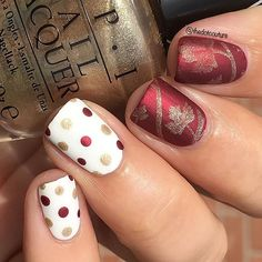 A simple Fall dotticure makes the perfect Thanksgiving nails!!! Such a simple way to make a statement and you don't need any special tools! I used a bobby pin for this. More Thanksgiving day nail art over at @cutegirlshairstyles (clickable link in my bio!)