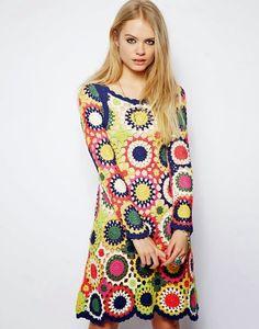 Ivelise Feito à Mão: Vestido Multi Colorido By Asos