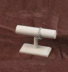 NEW Beige Suede Bracelet T-Bar Jewelry Display Bangle $7.50