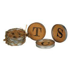 Cork Monogram Lid Coasters, Set of 4 | Kirklands