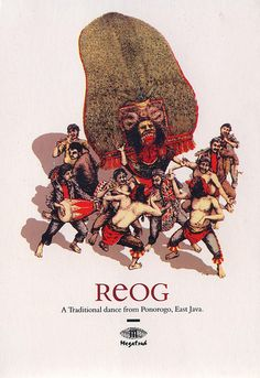 Depicting traditional show of Reog from Ponorogo, East Java, Indonesia.