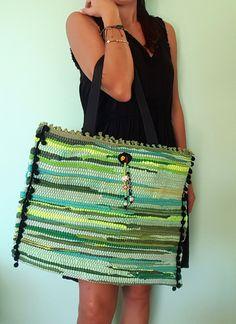 Gypsy Bag, Rainbow Bag, Ethnic Bag, Hippie Bags, Art Bag, Freeform Crochet, Summer Bags, Knitted Bags, Textiles