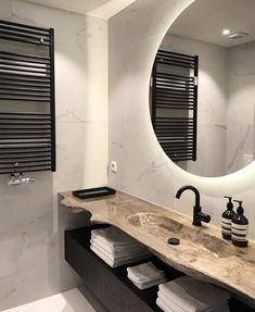 Modern Bathroom Design, Bathroom Interior Design, Modern House Design, Bad Inspiration, Bathroom Inspiration, Bad Styling, Home Design Software, Home Room Design, Bathroom Styling