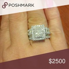 14kt white gold diamond ring 14kt white gold diamond ring..3.10 tcw... see details in 2nd picture Jewelry Rings
