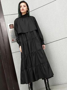 Plus Size Solid Fashion Tiered Midi Kleider Curvy Fashion, Plus Size Fashion, Fashion Fashion, Plus Size Dresses, Plus Size Outfits, Plus Size Kleidung, Plus Size Summer, Plus Size Wedding, Cotton Style