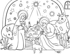 printable nativity coloring page free pdf download at httpcoloringcafecom christmas coloring sheetschristmas