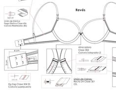 Technical drawing with zoom in details