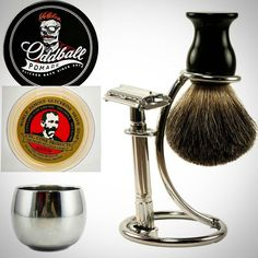Don't forget that we still have these pre orders available for father's day! Nothing better than the gift of a clean shave along with Oddball Pomade! Pre Order at:  oddballpomade.bigcartel.com  #oddball #oddballpomade #pomade #pomp #pompadour #slick #slickedback #beard #beardsofinstagram #beardedvillains #beardgang #barber #barbershop #barbershopconnect #hair #haircut #haircare #peppermint #eucalyptus by oddballpomade