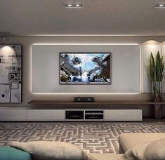 Living room tv wall ideas on living room wall walls ideas entertainment wall on living room . Living Room Tv Unit, Living Room Modern, Home Living Room, Living Room Designs, Living Room Decor, Tv Wall Ideas Living Room, Apartment Living, Modern Tv Room, Cozy Living