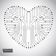 Circuit board with in heart shape pattern | Stock Photo © Yulia Gapeenko
