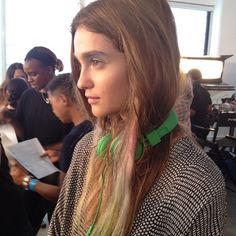 Fun, innocent, smudgy pastel streaks at Peter Som. #nyfw
