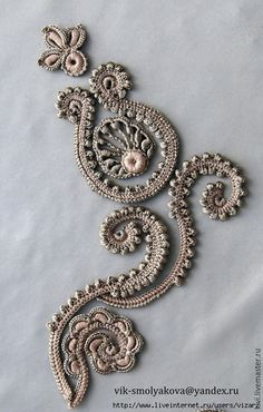 Irish Lace Motifs Discussion on LiveInternet - Russian Service Online Diaries Good detailed videos showing someone doing Irish lace (not English) Irish crochet sewing together ii by bramboraczech deviantart com on Filet Crochet, Crochet Motifs, Freeform Crochet, Crochet Art, Knit Or Crochet, Crochet Flowers, Doilies Crochet, Crochet Paisley, Irish Crochet Patterns