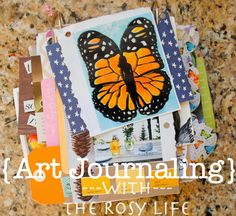 The Rosy Life: Finished: My First Art Journal *Great ideas!  Inspires me to just JUMP IN!