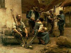 Leon Augustin L'hermitte(1844-1925)(La paye des moissonneurs_1892)Oil on canvas(272x 216cm)_Orsay museum Paris France