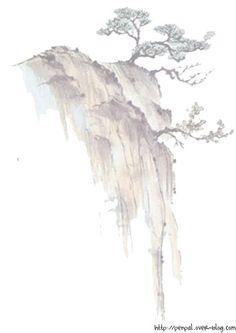 Papier à lettre asie paysage